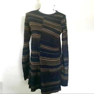 NWT Free People Striped Long Sleeve Sweater Top